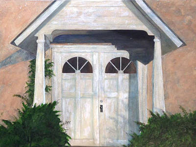 Painting - Church Doors by T Fry-Green