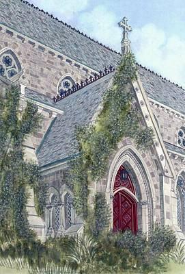 Patrick Painting - Church Doorway by David Hinchen