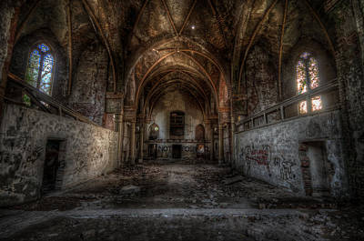 Digital Art - Church Empty by Nathan Wright