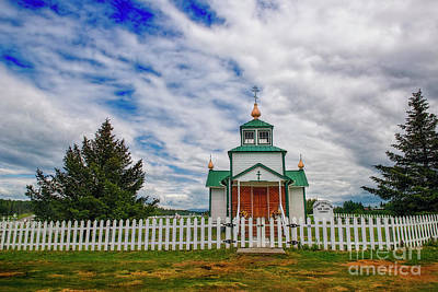 Photograph - Church Fence And Clouds by David Arment