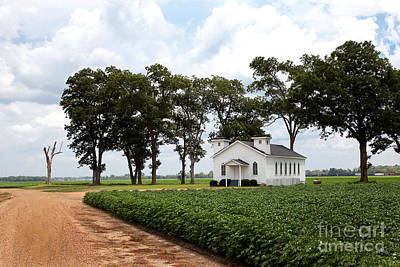 Photograph - Church From The Help Movie In Mississippi by T Lowry Wilson