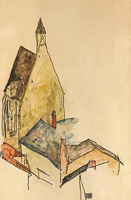 Drawing - Church Hospital Modling by Egon Schiele