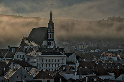 Photograph - Church In A Foggy Dawn - Czechia by Stuart Litoff