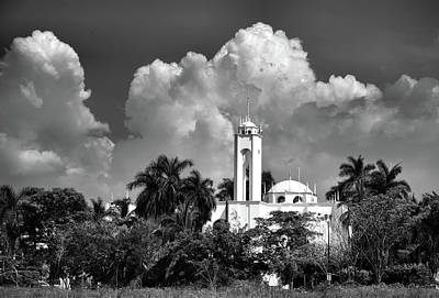 Photograph - Church In Black And White by Jim Walls PhotoArtist