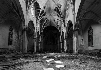 Church In Black And White Art Print
