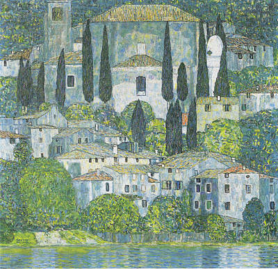 Hill Top Village Painting - Church In Cassone, 1913 by Gustav Klimt