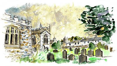 Painting - Church In Clynnog Fawr In Wales 02 by Miki De Goodaboom