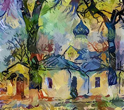 Digital Art - Church In Gogh by Yury Malkov