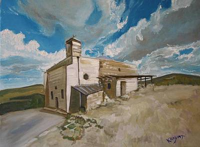 Painting - Church In Iqrit by Marwan  Khayat