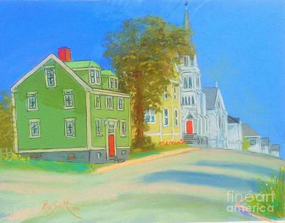 Pastel - Church In Lunenburg by Rae  Smith PAC