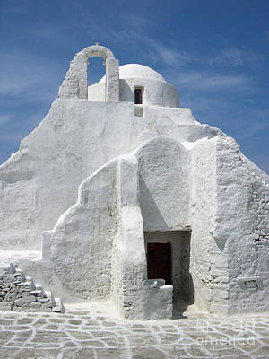 Photograph - Church In Mykonos by Sandra Bronstein