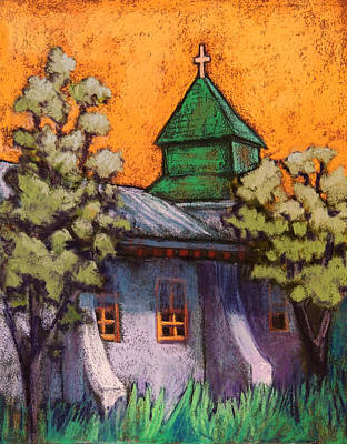 Wall Art - Pastel - Church In New Mexico by Candy Mayer