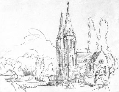 Vancouver Drawing - Church In North Vancouver by Dorothy Hilde