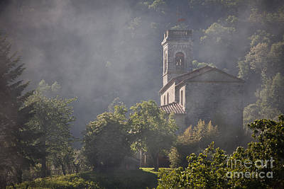 Church In Partigliano Art Print by Steven Gray