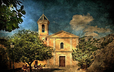 Photograph - Church In Peillon by Roberto Pagani