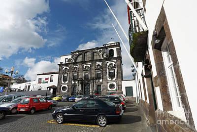 Church In Ponta Delgada Art Print by Gaspar Avila