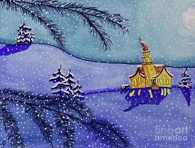Church In Snow Original by Tonya Hudson