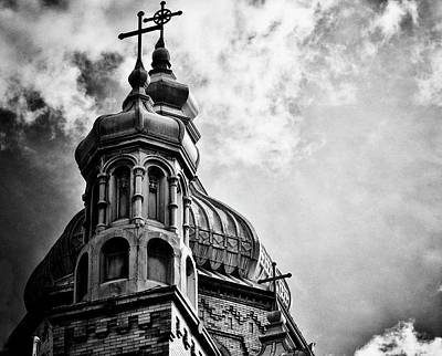 Black And White Photograph - Church In The Clouds by Sheryl Thomas