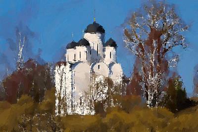 Digital Art - Church In The Forest by Yury Malkov