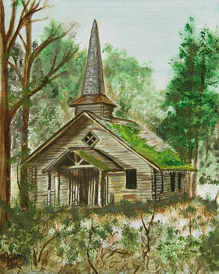Church In The Wildwood Original by M Gilroy