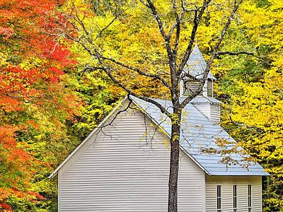 Maggie Valley Photograph - Church In The Wildwood by William Jones