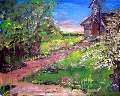 Painting - Church In The Woods by Colleen Ranney