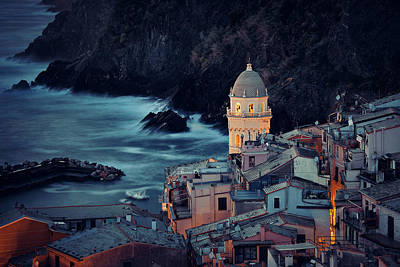 Photograph - Church In Vernazza Cinque Terre  by Songquan Deng