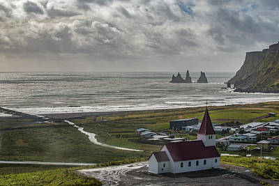 Photograph - Church In Vik by Jon Glaser
