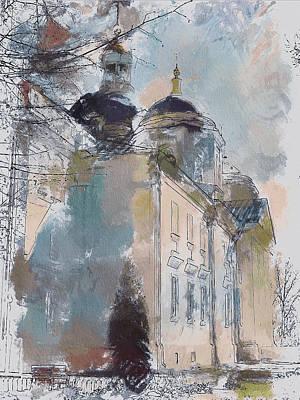 Digital Art - Church In Watercolor by Yury Malkov