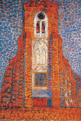 Piet Painting - Church In Zeeland by Piet Mondrian