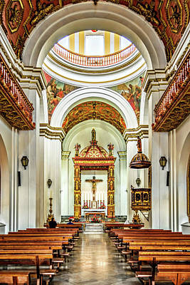 Photograph - Church Interior by Maria Coulson