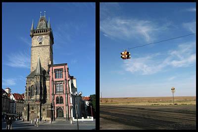 Prague Digital Art - Church by James W Johnson