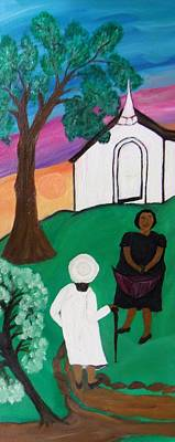 Church Ladies  Art Print by Mildred Chatman