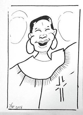 Drawing - Church Lady 2 by Loretta Nash