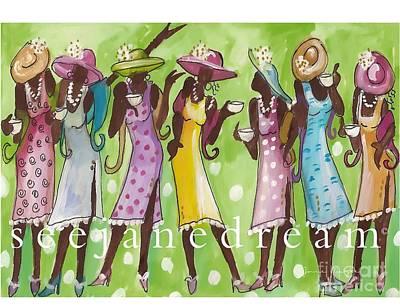 Women Mixed Media - Church Lady Tea by Janie McGee