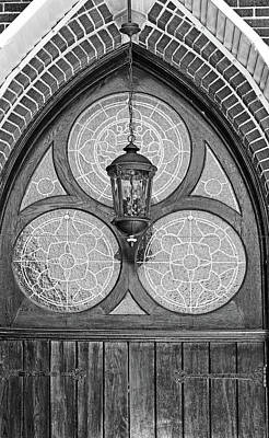 Photograph - Church Lantern 3 Bw by Mary Bedy