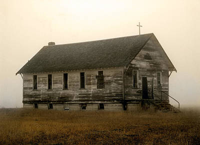 Old Cabins Photograph - Church by Leland D Howard