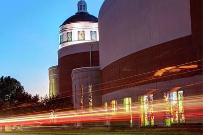 Photograph - Church Lights - Downtown Bentonville by Gregory Ballos