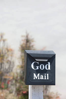Mail Box Photograph - Church Mailbox In Arroyo Grande by Art Block Collections