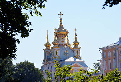 Photograph - Church Of Grand Peterhof Palace by Terence Davis