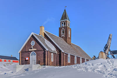Greenland Photograph - church of Ilulissat - Greenland by Joana Kruse