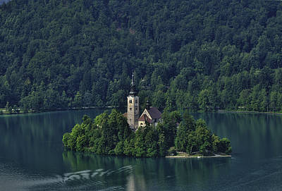 Photograph - Church Of Mary On Bled Island by Don Wolf