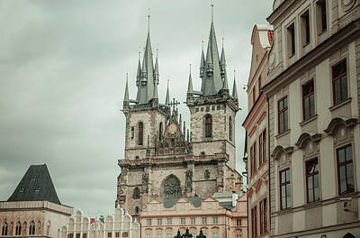 Old Prague Photograph - Church Of Our Lady Before Tyn by Jenny Rainbow