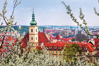 Photograph - Church Of Our Lady Of Victory And St Nicholas. Spring Prague by Jenny Rainbow