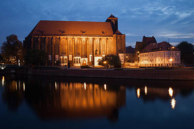 Oder Photograph - Church Of Our Lady On Sand In Wroclaw By Night by Artur Bogacki