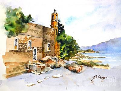 Painting - Church Of Primacy, Galilee by Betty M M Wong