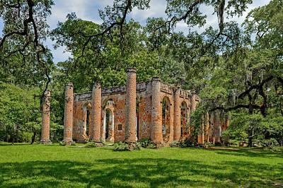 Photograph - Church Of Prince Williams Parish  -  Sheldonchurchruins173017 by Frank J Benz