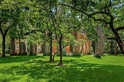Photograph - Church Of Prince William Parish  -  Sheldonchurchruins173041 by Frank J Benz