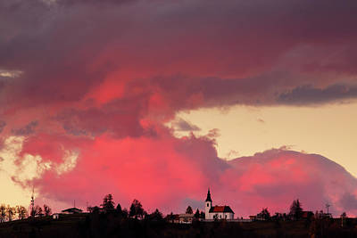 Photograph - Church Of Saint Nicholas At Sunset by Ian Middleton