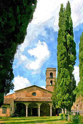 Painting - Church Of San Famiano With Cypresses by Giuseppe Cocco